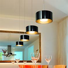 esszimmerleuchten esszimmerlampen innen kaufen bei. Black Bedroom Furniture Sets. Home Design Ideas